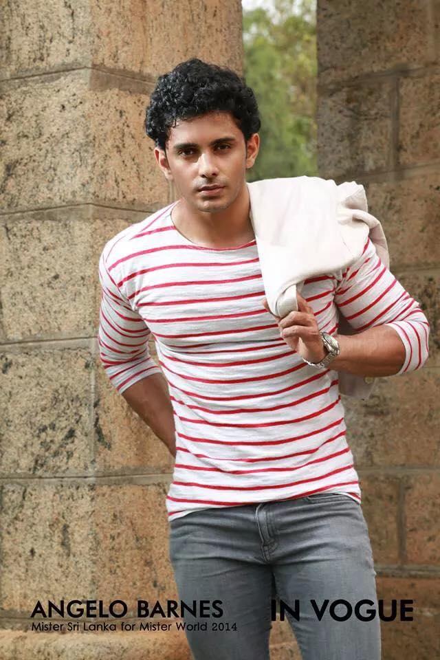 Angelo Barnes - Sri Lankan rising male model - UsLanka